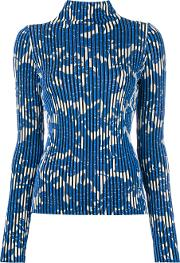Christian Wijnants , Striped Floral Sweater Women Polyesterviscose Xs, Blue