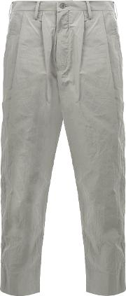 08sircus , Cropped Trousers Men Cottonpolyester 7, Grey