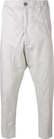 10sei0otto , Cropped Tapered Trousers Men Cottonlinenflax S, Nudeneutrals