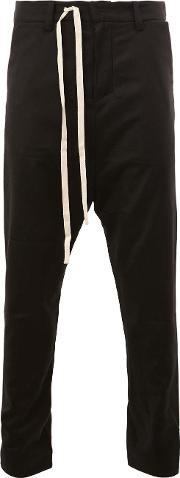 A New Cross , Tailored Cropped Trousers Men Linenflax L, Black