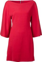 Adam Lippes , Structured Boat Neck Dress Women Viscose 6, Women's, Red