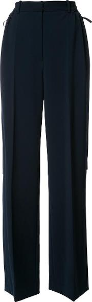 Adeam , Flared Trousers Women Polyesterpolyurethane 8, Blue