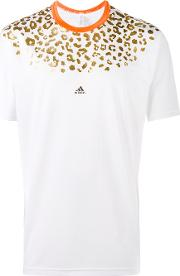 Adidas By Kolor , Beast Animal Print Chill T Shirt Men Polyester Xs, White
