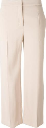 Agnona , Straight Cropped Trousers Women Spandexelastaneviscose 44, Nudeneutrals