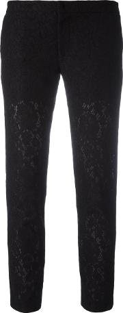 Ainea , Lace Trousers Women Cottonpolyamidepolyester 42, Black