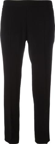 Alberto Biani , Cropped Trousers Women Triacetateacetatepolyester 40, Black