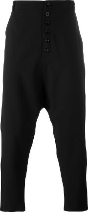 Alchemy , Drop Crotch Pants Men Cottonpolyester M, Black