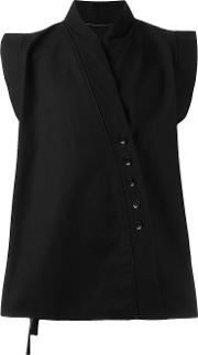 Alchemy , Off Centre Fastening Waistcoat Men Cottonpolyester L, Black