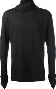 Alchemy , Roll Neck Sweatshirt Men Cottonspandexelastane M, Black