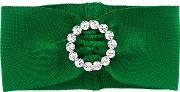Alessandra Rich , Buckled Headband Women Spandexelastanepolyester One Size, Green