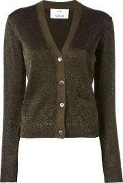 Allude , V Neck Cardigan Women Nylonpolyester L, Brown