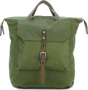 Ally Capellino , Frances Backpack Men Wax One Size, Green