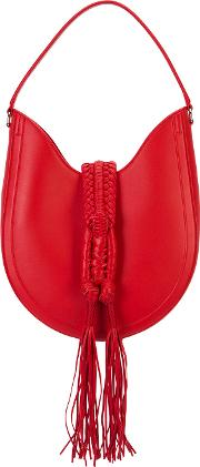 Altuzarra , Fringed Tote Women Leather One Size, Red