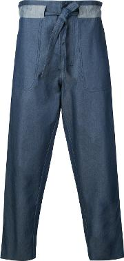 Andrea Pompilio , Baggy Jeans Men Cotton 46, Blue