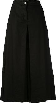 Andrea Yaaqov , Andrea Ya'aqov Long Box Pleat Skort Women Cottonlinenflaxspandexelastane S, Black