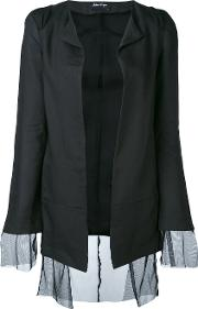 Andrea Yaaqov , Andrea Ya'aqov Sheer Layered Jacket Women Ramiepolyamide S, Black