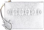 Anya Hindmarch , 'circulus' Large Pouch Women Leather One Size, Grey