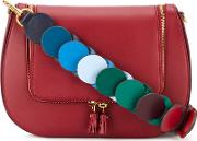 Anya Hindmarch , Vere Link Strap Satchel Women Cottonleather One Size, Red