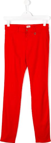 Armani Junior , Casual Trousers Kids Cottonspandexelastanelyocellmodal 15 Yrs, Red