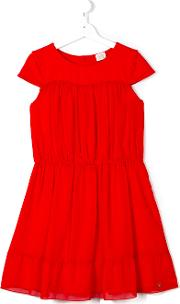 Armani Junior , Flared Dress Kids Cottonpolyesterspandexelastanemodal 14 Yrs, Red