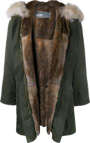 Army Yves Salomon , Rabbit And Coyote Fur Lined Parka Women Rabbit Furpolyestercoyote Fur 34, Green