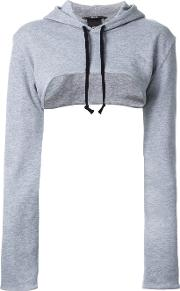 Assin , Cropped Hoodie Women Cotton L, Grey