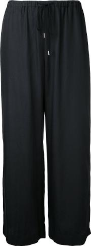 Astraet , Cropped Trousers Women Cupro 0, Black