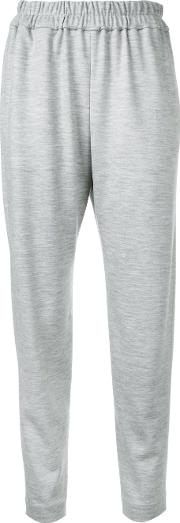 Astraet , Cropped Trousers Women Wool 1, Grey