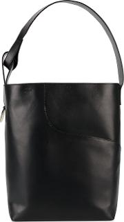 Atp Atelier , 'pienza' Large Tote Bag Women Leather One Size, Women's, Black