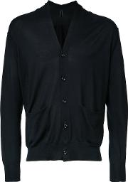 Attachment , Pocket Detail Cardigan Men Cotton 2, Black
