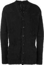 Attachment , Textured Long Sleeve Cardigan Men Wool 4, Brown