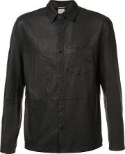 Baldwin , 'alan' Leather Shirt Men Leather S, Black