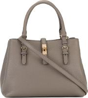 Bally , Buckle Detail Tote Women Leather One Size, Brown