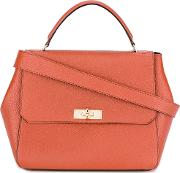 Bally , Flip Lock Tote Bag Women Calf Leather One Size, Red