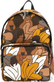 Bally , Floral Print Backpack Men Nylon One Size