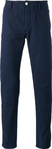 Barba , Classic Chinos Men Cottonspandexelastane 46, Blue