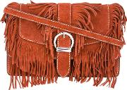 Barbara Bui , Fringed Cowboy Shoulder Bag Women Calf Leatherpolyester One Size, Brown