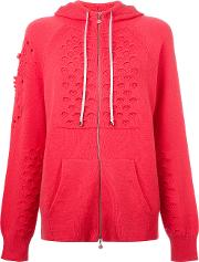 Barrie , Cashmere Knitted Hoodie Women Cashmere L, Pinkpurple