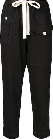 Bassike , Cropped Trousers Women Cotton 10, Black