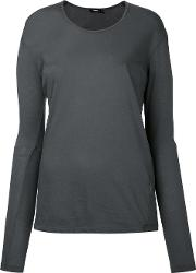 Bassike , Fitted Top Women Cotton L, Grey