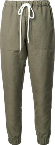 Bassike , Tapered Trousers Women Cottonlinenflax 14, Green