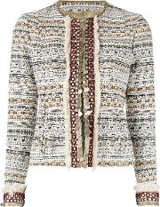 Bazar Deluxe , Embellished Cropped Jacket Women Cottonpolyesterother Fibres 44