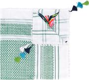 Bazar Deluxe , Embroidered Scarf Women Cotton One Size, White