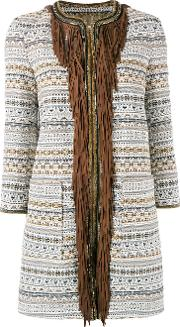 Bazar Deluxe , Fringed Trim Coat Women Cottonpolyesterother Fibres 44