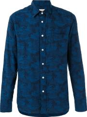 Bellerose , Camouflage Print Shirt Men Cotton S, Blue