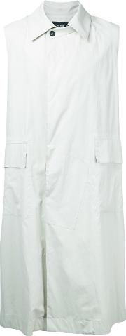 Berthold , Sleeveless Midi Coat Men Cotton L, Nudeneutrals