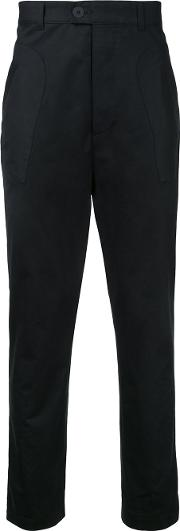 Berthold , Tapered Trousers Men Cotton L, Black