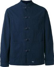 Bleu De Paname , Mandarin Neck Duffle Shirt Men Cotton Xl, Blue