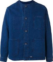 Bleu De Paname , Multi Pockets Shirt Jacket Men Cotton L, Blue