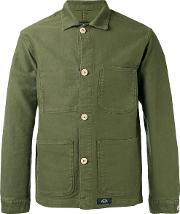 Bleu De Paname , Shirt Jacket Men Cotton L, Green